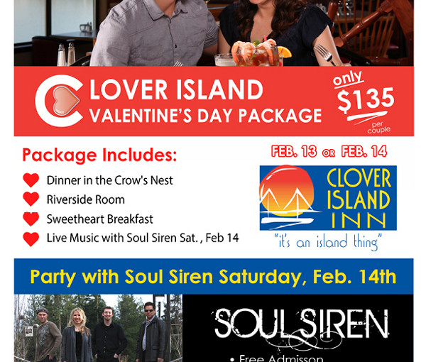 Valentines Date with Soul Siren at Clover Island Inn