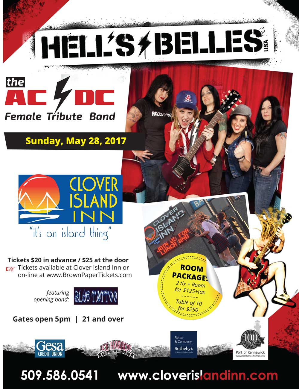hells belles clover island inn may 2017