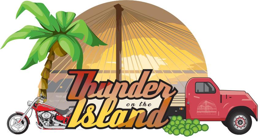 thunder on the island logo